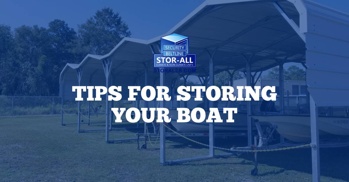 Tips for Storing Your Boat
