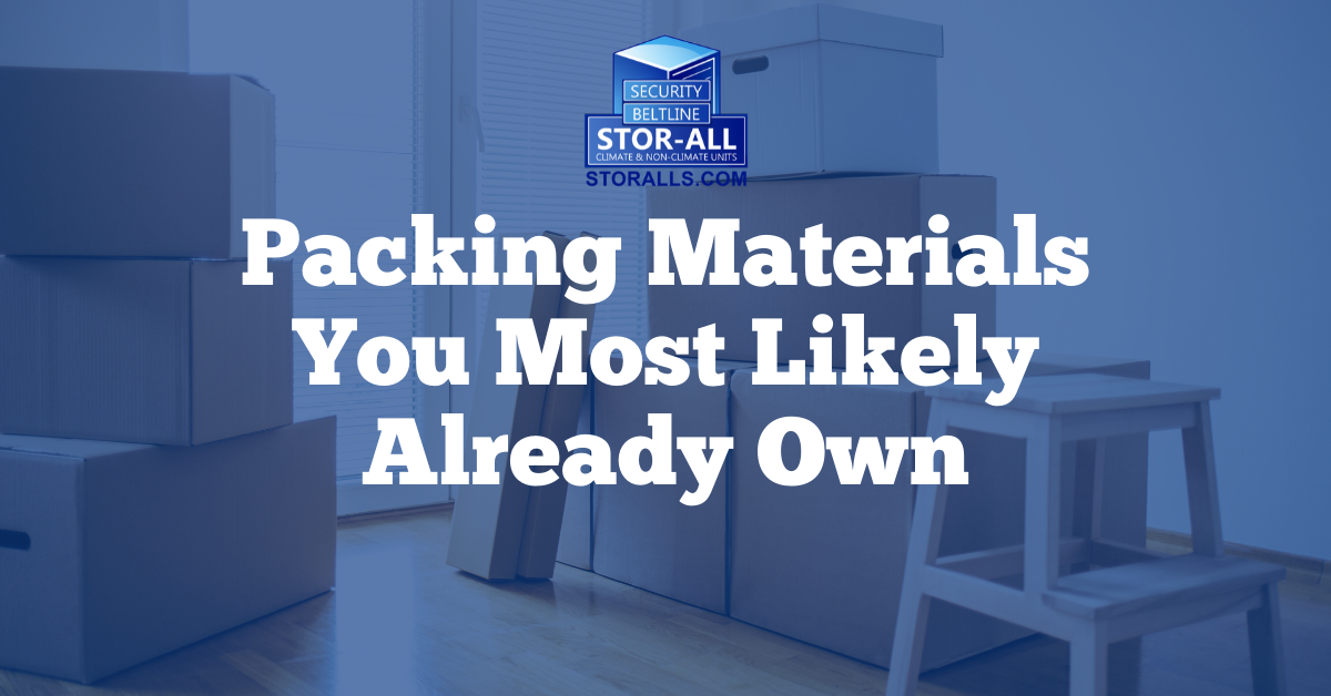 Packing Materials You Most Likely Already Own
