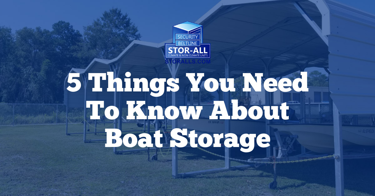 5 Things You Need To Know About Boat Storage