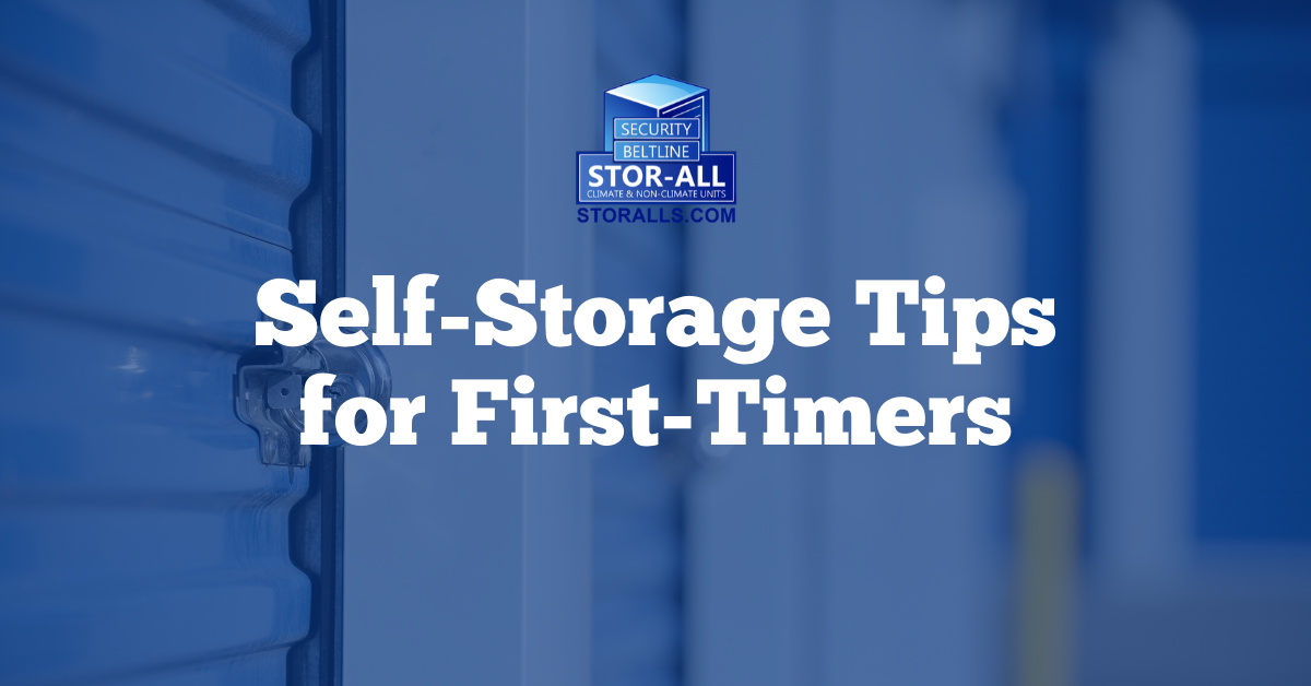 Self-Storage Tips for First-Timers